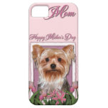 Mothers Day - Pink Tulips - Yorkshire Terrier iPhone 5 Cases