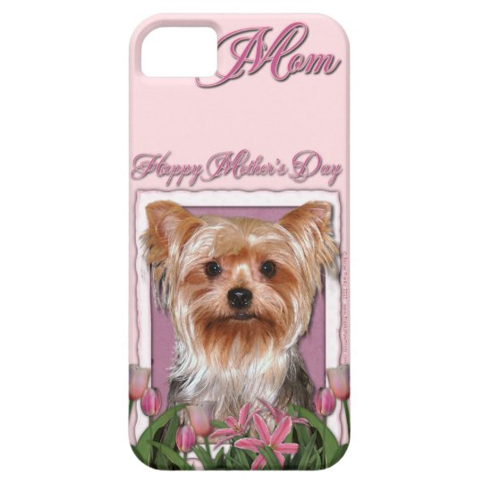 Mothers Day - Pink Tulips - Yorkshire Terrier iPhone SE/5/5s Case