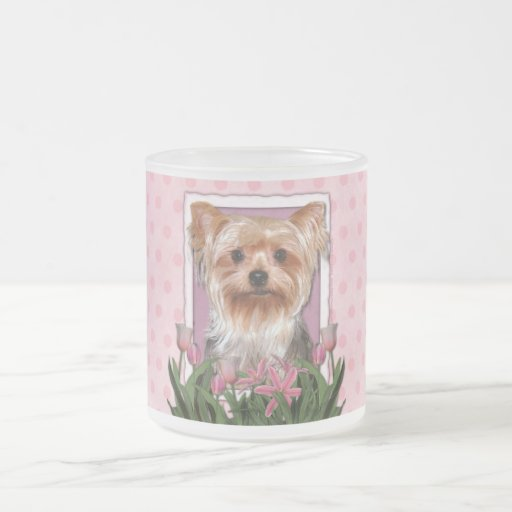 Mothers Day - Pink Tulips - Yorkshire Terrier Coffee Mug