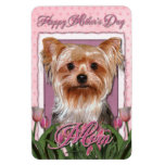 Mothers Day - Pink Tulips - Yorkshire Terrier Rectangular Photo Magnet