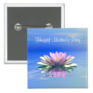Mother's Day Pink Water Lily Pins