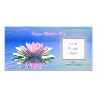 Mother's Day Pink Water Lily Card