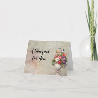 Mother's Day Planter Colorful Flowers Newspaper Holiday Card