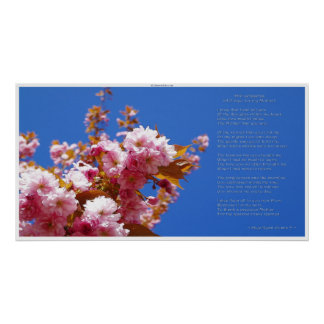 MOTHER'S DAY & POEM Cherry Blossoms Poster