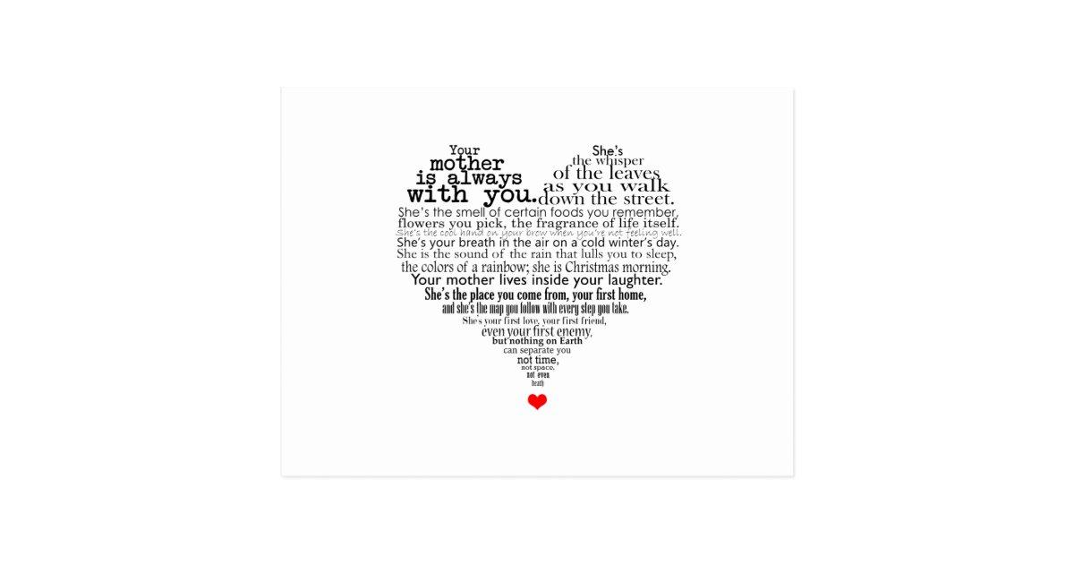 Mothers Day Poem Postcard Zazzlecom