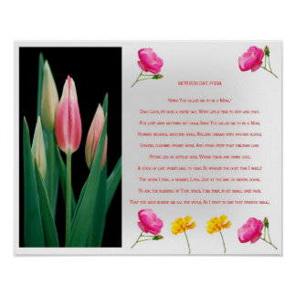 Mother's day Poem print Poster