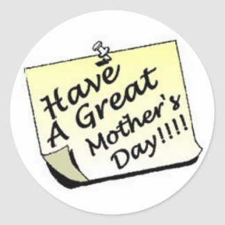 Mother's Day Post-it Classic Round Sticker