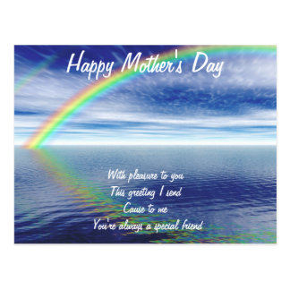 Mother's day postcards-to a special friend postcard
