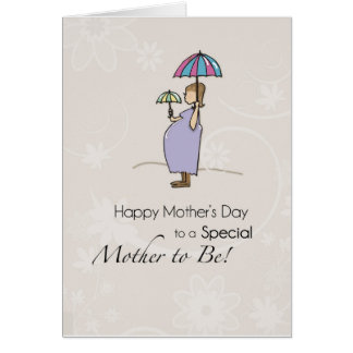 Mother's Day Pregnant Mom Card