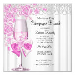 Mother's Day Pretty Pink Rose Champagne Brunch 2a Card