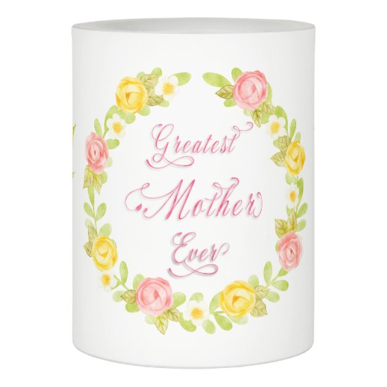 Mother's Day - Pretty Watecolor Roses - Word Art Flameless Candle
