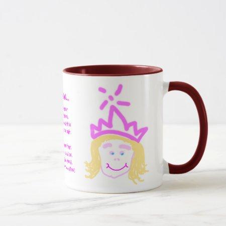 Mother's Day Princess mug with verse
