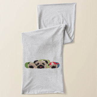 Mother's Day Pugs Scarf