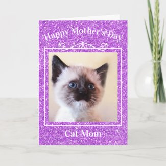 mother's day, mom, cat mom, cat lady, greeting card, card, kitten, template