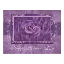 """Mother's Day"" Purple Roses Postcard"