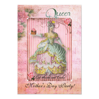 Mother's Day Queen party 5x7 Paper Invitation Card