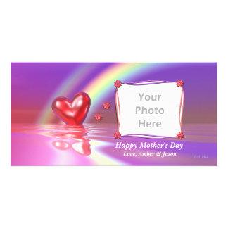 Mother's Day Rainbow Heart Card