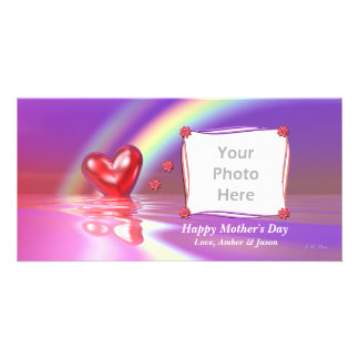 Mother's Day Rainbow Heart Photo Card