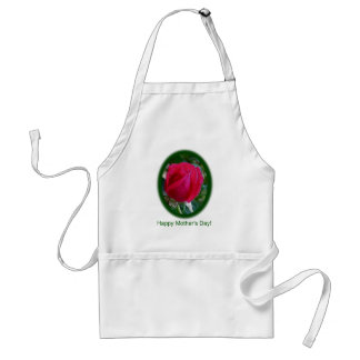 Mother's Day Red Rose Cards & Gifts Aprons