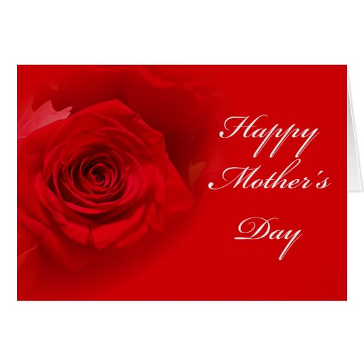 Mother's Day - Red Rose - Greeting card