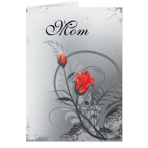 Mother's Day Red Roses Greeting Card