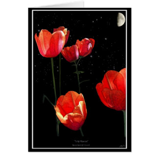 """""""Mother's Day"""" Red Tulips Card & Poem"""