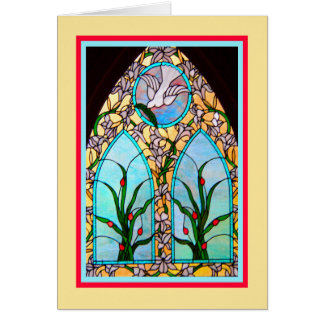 Mother's Day Religious Card with Church Window