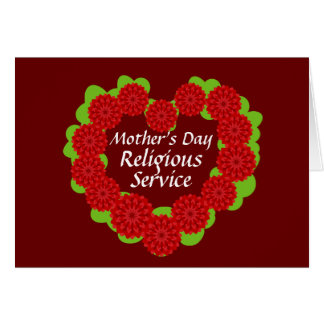 Mother's Day Religious Service-Customize Card