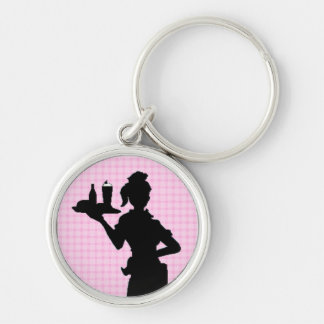 Mother's Day Retro 1950 Car Hop Premium Keychain