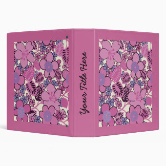 Mother's Day Retro Groovy Pink Binder