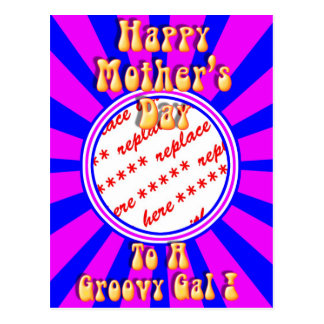 Mother's Day Retro Photo Frame Postcard