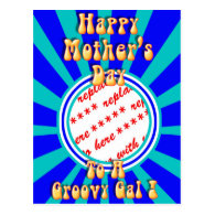 Mother's Day Retro Photo Frame Postcards