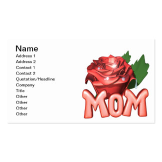 Mothers Day Rose Double-Sided Standard Business Cards (Pack Of 100)