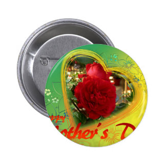 Mother's Day Rose Button