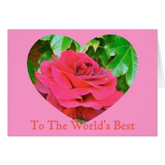 Mother's Day Rose heart Card