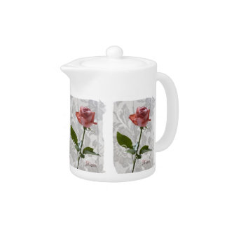 Mother's Day Rose on Lace Teapot