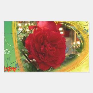 Mother's Day Rose Rectangular Sticker