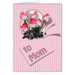 Mother's Day Roses For Mom (Checkered) Cards
