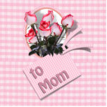 Mother's Day Roses For Mom (Checkered) Photo Cut Out