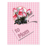 Mother's Day Roses For Mom (Checkered) Postcard