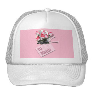 Mother's Day Roses For Mum (on Pink) Trucker Hat