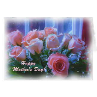 Mothers Day Roses Oil Digital Art Card