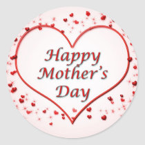 Mother's day Round Stickers