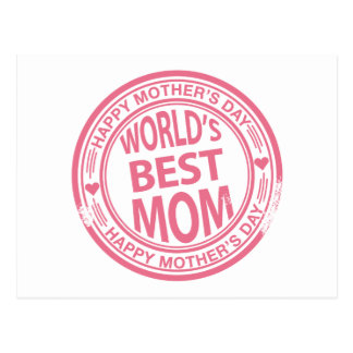 Mother's Day rubber stamp effect Postcard