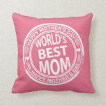 Mother's Day rubber stamp effect Throw Pillow
