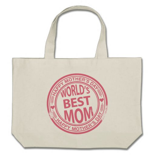 Mother's Day rubber stamp effect Tote Bags