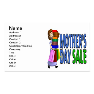 Mothers Day Sale Double-Sided Standard Business Cards (Pack Of 100)