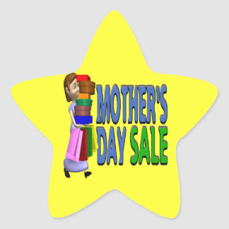 Mothers Day Sale Star Sticker