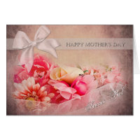 Mother's Day -  Secret Pal - Pink Flowers Card