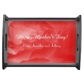 Mother's Day Serving Tray, Coral Rose